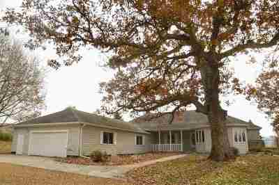 Ogle County Single Family Home For Sale: 765 N River (6+ac) Road