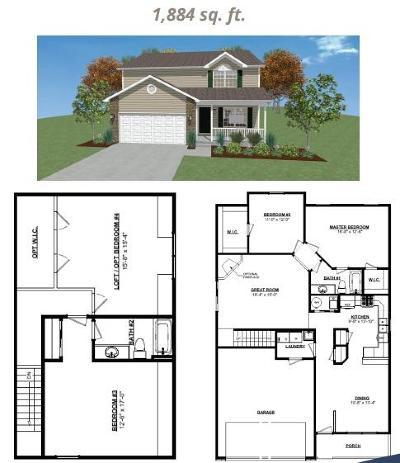 La Porte, Laporte Single Family Home For Sale: W 150 N