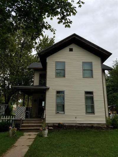 Waterloo IN Single Family Home For Sale: $83,000