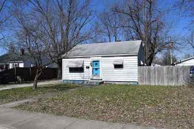 Evansville IN Single Family Home For Sale: $37,500