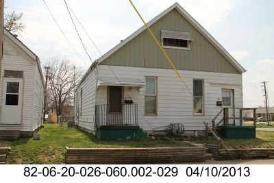 Evansville IN Single Family Home For Sale: $34,900