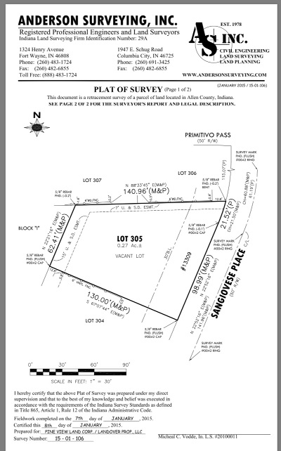 Allen County Residential Lots & Land For Sale: 13309 Sangiovese Place