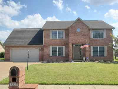 Evansville Single Family Home For Sale: 3827 Cobblefield Drive