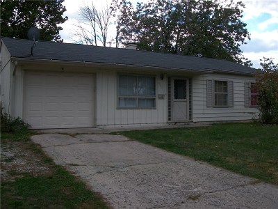 Indianapolis Single Family Home For Sale: 8321 East Gilmore Road