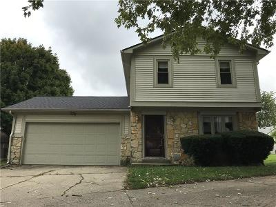 Indianapolis Condo/Townhouse Active W Contingency: 7541 Eagle Valley Pass