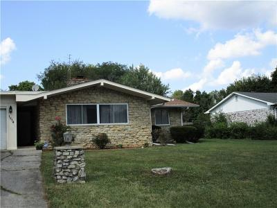 Indianapolis IN Single Family Home For Sale: $170,000