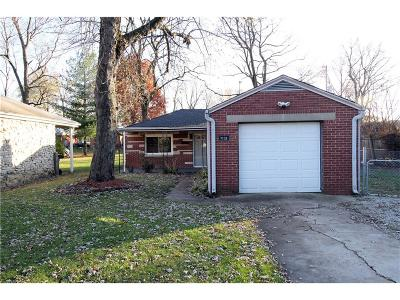Marion County Single Family Home For Sale: 7133 East 48th Street