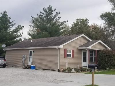 Greencastle IN Single Family Home For Sale: $85,000