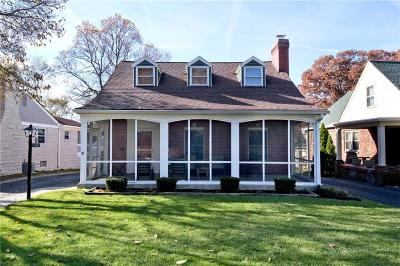 Single Family Home For Sale: 5480 North Illinois Street