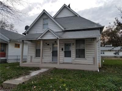 Indianapolis Multi Family Home For Sale: 1214 Shepard Street