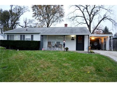 Indianapolis Single Family Home For Sale: 302 South Kenmore Road