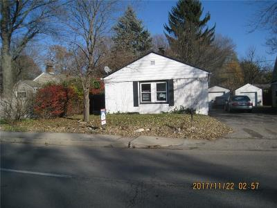 Indianapolis Single Family Home For Sale: 5843 North Keystone Avenue