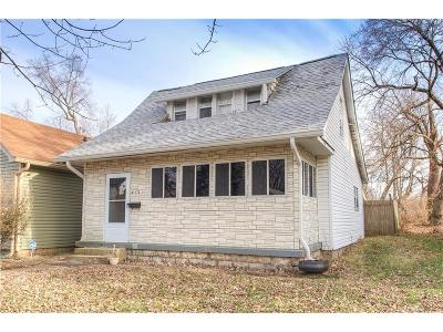 Indianapolis Single Family Home For Sale: 4121 Byram Avenue