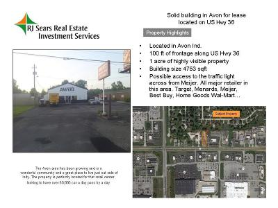 Avon Commercial Lease For Lease: 10690 East Rockville Road