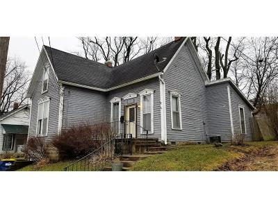 Greencastle IN Single Family Home For Sale: $55,000