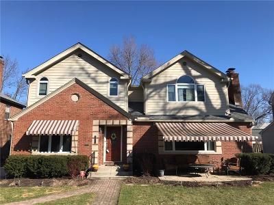 Indianapolis Single Family Home For Sale: 5957 North Washington Boulevard