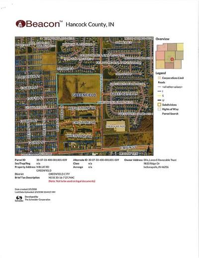 Greenfield Residential Lots & Land For Sale: North Blue Road