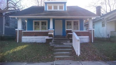 Indianapolis Single Family Home Active W Contingency: 2537 Brookway Street