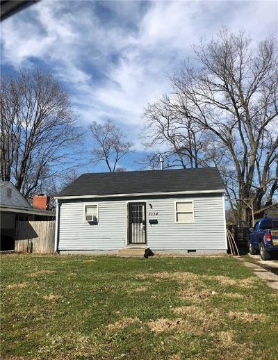 Marion County Single Family Home For Sale: 3334 West 22nd Street