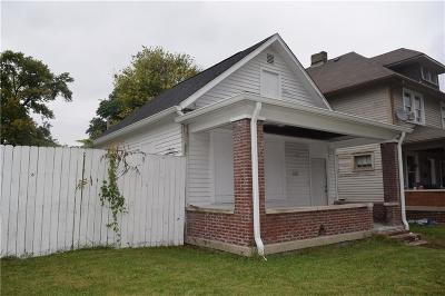 Indianapolis Single Family Home For Sale: 342 Orange Street