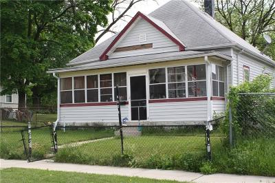 Indianapolis IN Single Family Home For Sale: $39,900
