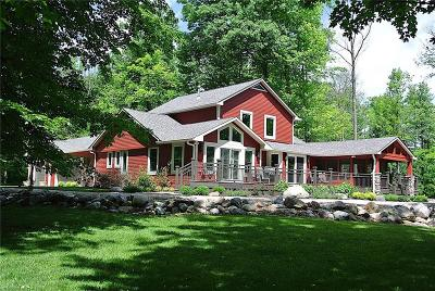 Zionsville Single Family Home For Sale: 672 West Russell Lake Drive