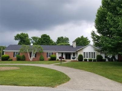 Greensburg  Single Family Home For Sale: 542 South 150 Road W