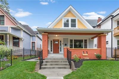 Indianapolis Single Family Home For Sale: 1509 Fletcher Avenue