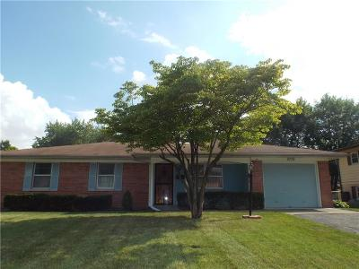 Speedway Single Family Home For Sale: 5739 West 30th Street