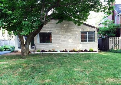 Indianapolis Single Family Home For Sale: 5360 North Kenwood Avenue