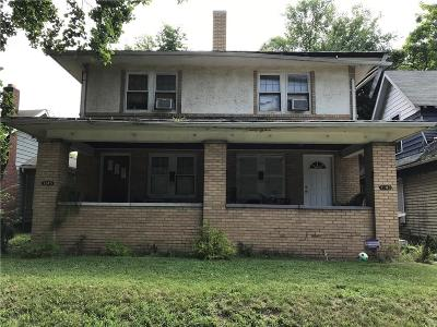 Indianapolis Single Family Home For Sale: 3245 Boulevard Place