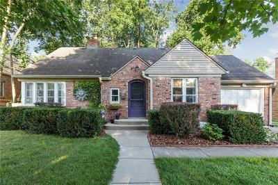 Indianapolis Single Family Home For Sale: 6226 North Delaware Street