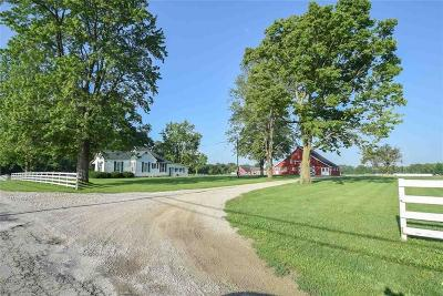 Delaware County Single Family Home For Sale: 3515 North County Road 850 W