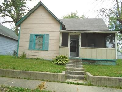 Greenfield IN Single Family Home For Sale: $35,000