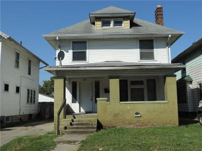 Indianapolis Single Family Home For Sale: 214 North Tremont Street