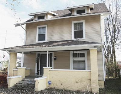 Indianapolis Single Family Home For Sale: 3827 Graceland Avenue
