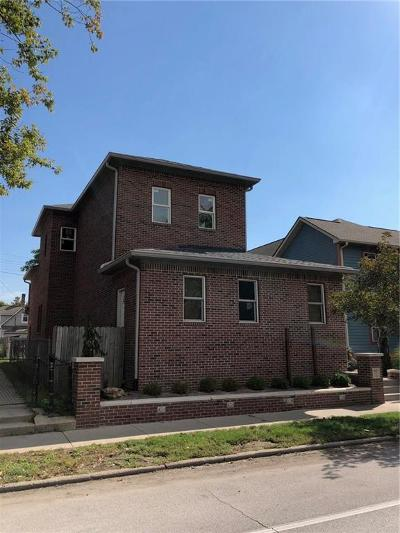 Indianapolis Single Family Home For Sale: 1655 North College Avenue