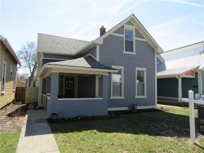 Indianapolis Single Family Home For Sale: 1425 Orange Street