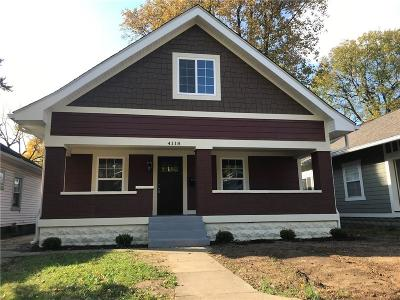 Indianapolis Single Family Home For Sale: 4118 Rookwood Avenue