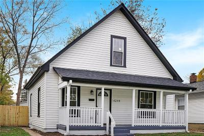 Indianapolis Single Family Home For Sale: 4244 North Winthrop Avenue