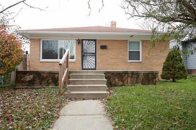 Indianapolis IN Single Family Home For Sale: $149,900