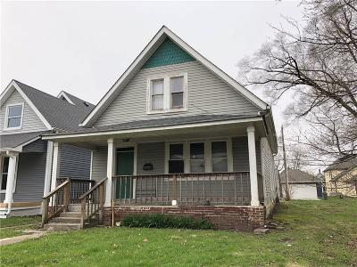 Indianapolis IN Single Family Home For Sale: $89,000