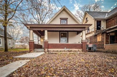 Indianapolis Single Family Home For Sale: 818 North Keystone Avenue