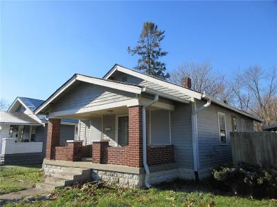 Indianapolis Single Family Home For Sale: 1424 North Gladstone Avenue