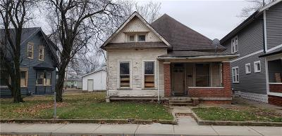 Indianapolis IN Single Family Home For Sale: $179,000