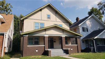 Indianapolis Single Family Home For Sale: 3429 North College Avenue