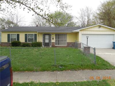 Indianapolis Single Family Home For Sale: 3733 North Lombardy Place