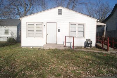 Indianapolis IN Single Family Home For Sale: $69,500