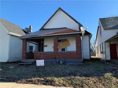 Indianapolis IN Single Family Home For Sale: $59,900