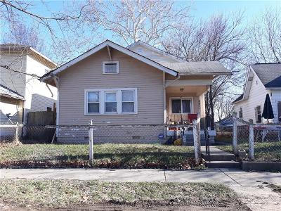 Indianapolis Single Family Home For Sale: 2021 North Lasalle Street
